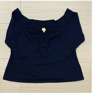 NEW Modcloth Navy Blouse Top